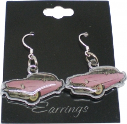 View Buying Options For The Elvis Presley Pink Cadillac Ladies Earrings