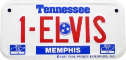 View Buying Options For The Elvis Presley #1 Memphis Tennessee Tag Metal License Plate