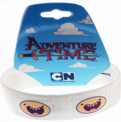 View Buying Options For The Adventure Time Finn Faces Silicone Rubber Wristband Bracelet [Pre-Pack]