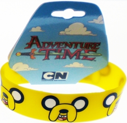 View Buying Options For The Adventure Time Jake Faces Silicone Rubber Wristband Bracelet [Pre-Pack]
