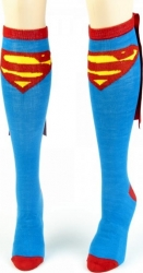 View Buying Options For The Superman Logo One Pair Cape Knee High Socks