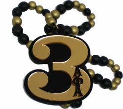 View Buying Options For The Alpha Phi Alpha Line #3 Mirror Wood Color Bead Tiki Necklace