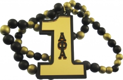 View Buying Options For The Alpha Phi Alpha Line #1 Mirror Wood Color Bead Tiki Necklace