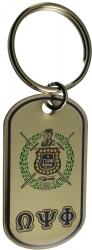 View Buying Options For The Omega Psi Phi Epoxy Coated Double Sided Dog Tag Key Ring