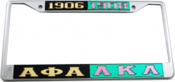 View Buying Options For The Alpha Phi Alpha + Alpha Kappa Alpha Split License Plate Frame