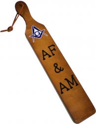 View Buying Options For The Mason AF&AM Branded Letters Traditional Paddle
