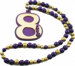 View Buying Options For The Omega Psi Phi Line #8 Mirror Wood Color Bead Tiki Necklace