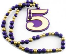 View Buying Options For The Omega Psi Phi Line #5 Mirror Wood Color Bead Tiki Necklace