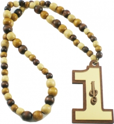 View Buying Options For The Iota Phi Theta Line #1 Mirror Wood Color Bead Tiki Necklace