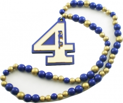 View Buying Options For The Sigma Gamma Rho Line #4 Mirror Wood Color Bead Tiki Necklace