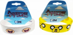 View Buying Options For The Adventure Time with Finn & Jake Faces Silicone Rubber Wristband Bracelets [Pre-Pack]