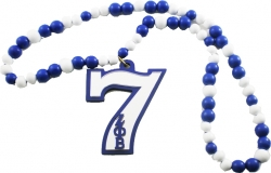 View Buying Options For The Zeta Phi Beta Line Number 07 Mirror Wood Color Bead Tiki Necklace