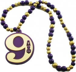 View Buying Options For The Omega Psi Phi Line #9 Mirror Wood Color Bead Tiki Necklace