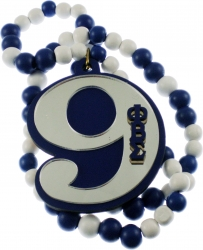 View Buying Options For The Phi Beta Sigma Line #9 Mirror Wood Color Bead Tiki Necklace
