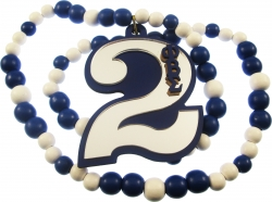 View Buying Options For The Phi Beta Sigma Line #2 Mirror Wood Color Bead Tiki Necklace