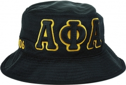 View Buying Options For The Alpha Phi Alpha Big Letter Mens Floppy Bucket Mesh Hat