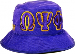 View Buying Options For The Omega Psi Phi Big Letter Mens Floppy Bucket Mesh Hat