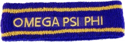 View Buying Options For The Omega Psi Phi Sport Stripes Terry Mens Headband