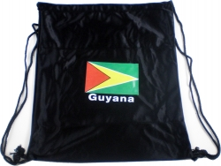 View Buying Options For The Guyana Flag Cinch Drawstring Bag
