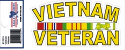 View Buying Options For The Vietnam Veteran Ribbon USA Made Outside Car Decal Sticker [Pre-Pack]
