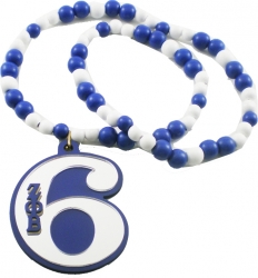 View Buying Options For The Zeta Phi Beta Line Number 06 Mirror Wood Color Bead Tiki Necklace