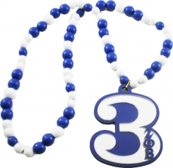 View Buying Options For The Zeta Phi Beta Line #3 Mirror Wood Color Bead Tiki Necklace