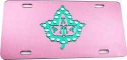 View Buying Options For The Alpha Kappa Alpha Pearl Ivy Leaf Symbol Mirror License Plate