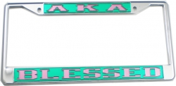 View Buying Options For The Alpha Kappa Alpha Blessed License Plate Frame