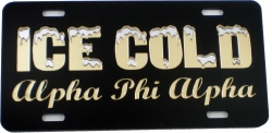 View Buying Options For The Alpha Phi Alpha Ice Cold Script Mirror License Plate