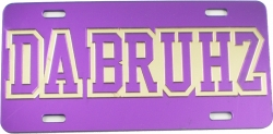 View Buying Options For The Omega Psi Phi Da Bruhz Outline Mirror License Plate