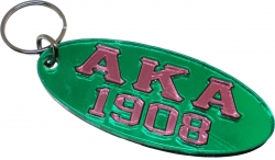 View Buying Options For The Alpha Kappa Alpha 1908 Oval Keyring Mirror Key Chain