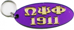 View Buying Options For The Omega Psi Phi 1911 Oval Keyring Mirror Key Chain