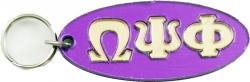 View Buying Options For The Omega Psi Phi Oval Keyring Mirror Key Chain