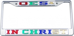 View Buying Options For The Eastern Star In Christ License Plate Frame