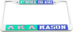 View Buying Options For The Alpha Kappa Alpha + Mason Split License Plate Frame