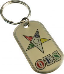 View Buying Options For The Eastern Star Epoxy Coated Double Sided Dog Tag Key Ring
