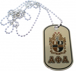 View Buying Options For The Alpha Phi Alpha Epoxy Coated Double Sided Dog Tag