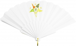 View Buying Options For The Eastern Star Retractable Accordion Style Hand Fan