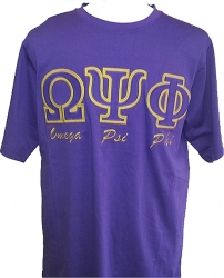 View Buying Options For The Omega Psi Phi Applique Fraternity Mens Tee