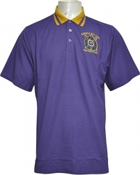 View Buying Options For The Omega Psi Phi Solid Color Polo Golf Mens Tee