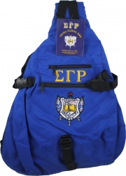 View Buying Options For The Sigma Gamma Rho Crest Sling Backpack