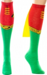 View Buying Options For The DC Comics Robin Logo One Pair Cape Knee High Socks