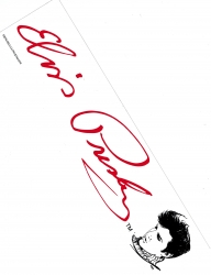 View Buying Options For The Elvis Presley Line Art Red Signature Bumper Sticker [Pre-Pack]