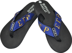 View Buying Options For The Sigma Gamma Rho Sorority Ladies Thong-Style Flip Flop Sandals