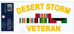 View Buying Options For The Desert Storm Veteran 4 Ribbons Outside Car Decal Sticker