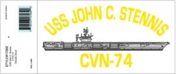 View Buying Options For The USS John C. Stennis CVN-74 Outside Car Decal Sticker [Pre-Pack]