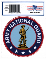 View Buying Options For The Eagle Crest Army National Guard Logo USA Made Outside Car Decal Sticker [Pre-Pack]