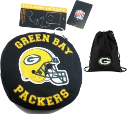 View Buying Options For The Green Bay Packers Tuckaway Cinch Drawstring Bag