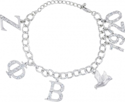 View Buying Options For The Zeta Phi Beta Austrian Crystal Charm Bracelet