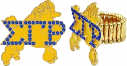 View Buying Options For The Sigma Gamma Rho Poodle Austrian Crystal Stretchy Band Ring